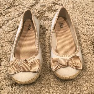 Dots striped flats size 6